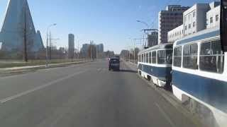 Driving around in Pyongyang, North Korea
