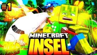 Der FLUGZEUG ABSTURZ?! - Minecraft INSEL #01 [Deutsch/HD]