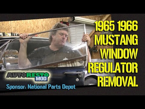 Remove and Grease 1965 1966 Mustang Window Regulator Roller replacement Episode 276 Autorest