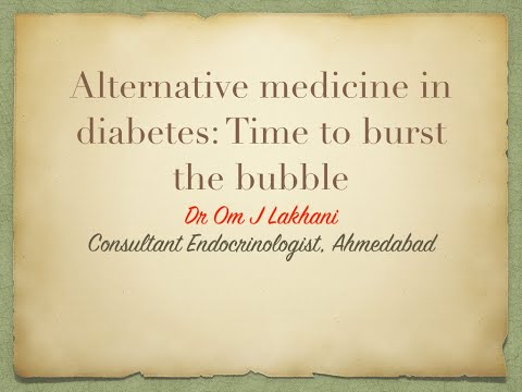 Alternative Medicines in Diabetes- Time to Burst the Bubble