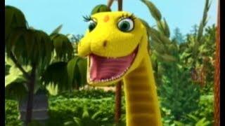 Поезд динозавров Шайни и змея Санаджей Мультфильм для детей про динозавров