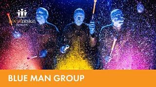 Смотреть видео Blue Man Group - взрыв музыки, комедии и цвета! онлайн