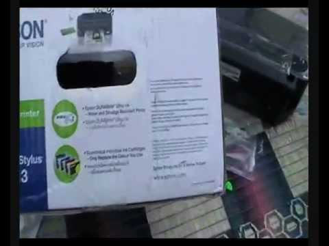 EPSON stylus T13 inkjet printer(UNBOXING)
