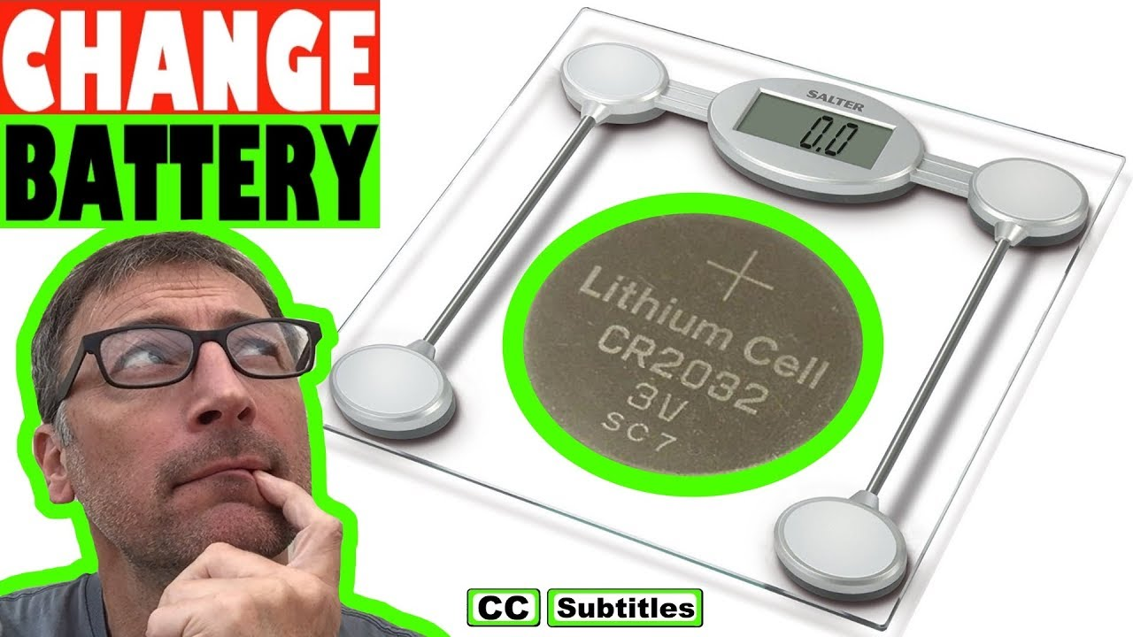 How To Change Battery On Salter Bathroom Scales