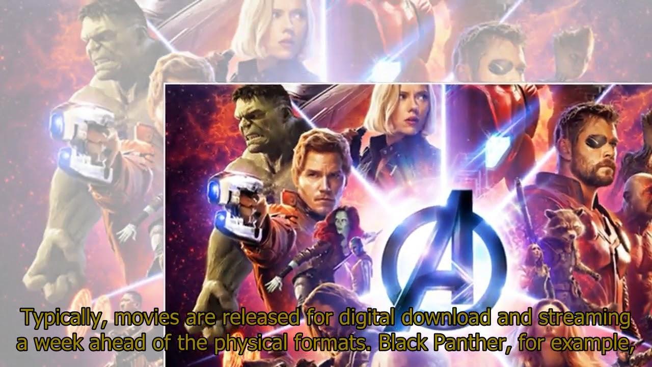 avengers infinity war digital release date