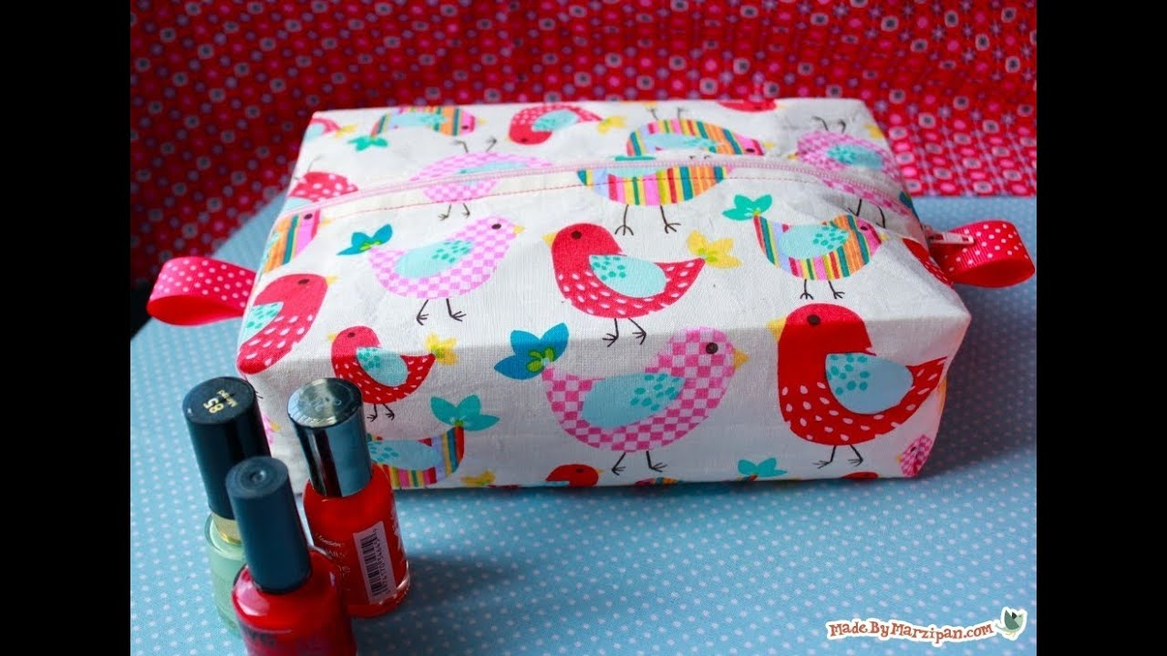 Sew A Boxy Cosmetic Bag