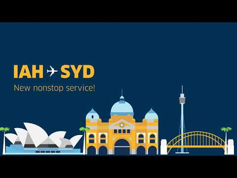 New Route between Houston (IAH) and Sydney (SYD)