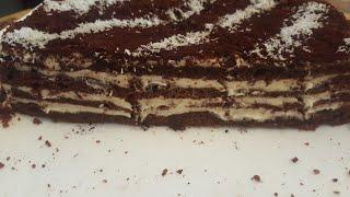 Медовик. Шоколадный медовый торт без раскатки коржей. Medovik tayyorlash