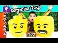 Giant LEGO Head SURPRISE Legos MiniFig Blind Bags, Blind Boxes HobbyKidsTV
