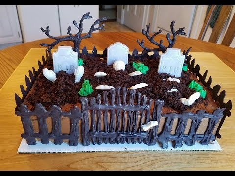Haunted Graveyard Cake Youtube