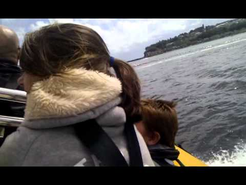 Speed boat riding in Cardiff bay