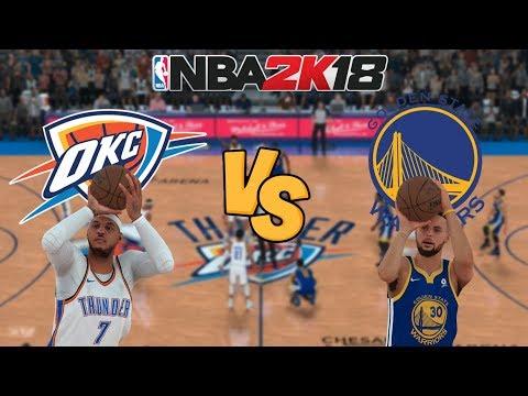 NBA 2K18 - Oklahoma City Thunder (MELO!) vs. Golden State Warriors - Full Gameplay
