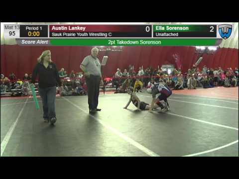 95 Austin Lankey Sauk Prairie Youth Wrestling C vs Ella Sorenson  6474514104