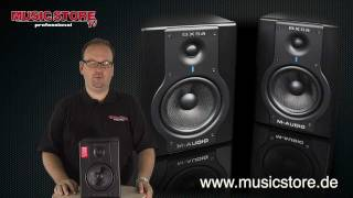m audio bx5a und bx8a studiomonitor