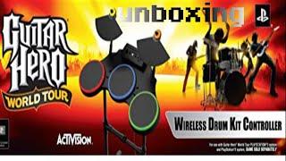 Guitar hero wt drums ps2/3 unboxing