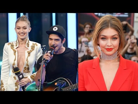 Tyler Posey Performs Song For Gigi Hadid - Gigi Slays Style Game While Hosting MMVAs