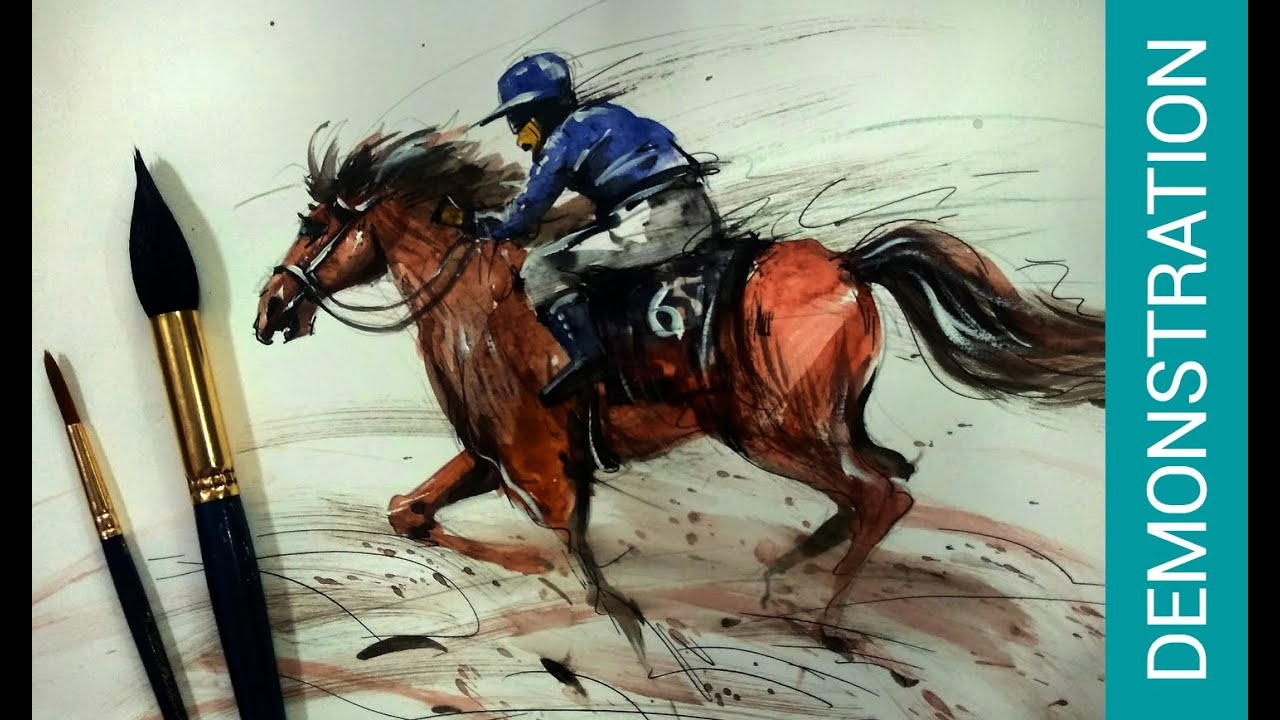 Horse Painting Benefits In Watercolor Horse Painting For An Advance Process Horse Painting Ideas Youtube