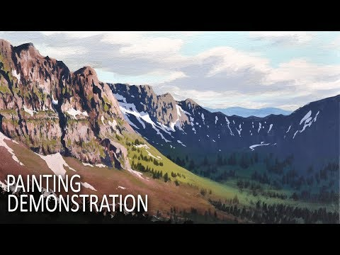 HOW TO PAINT AN AMAZING BACKGROUND