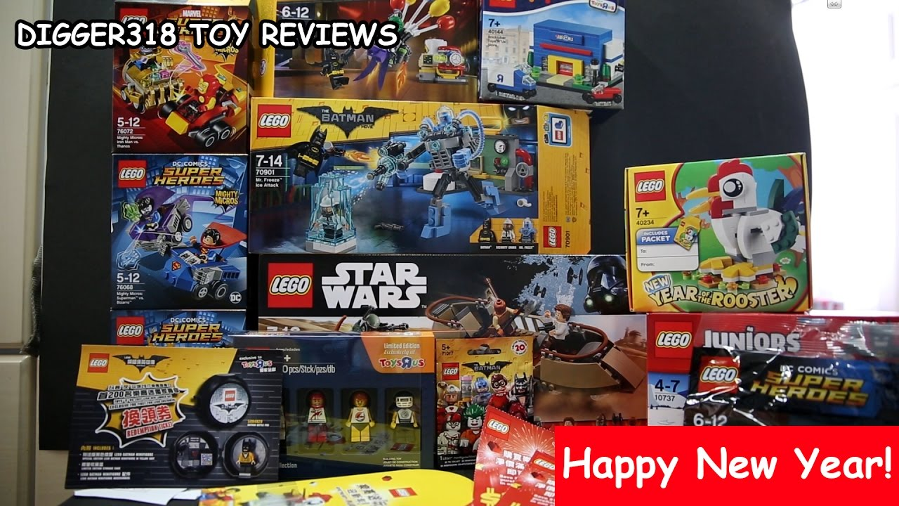 Lego 2017 Toys R Us New Year Haul Free Stuff Youtube