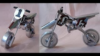 DIY Miniature Motorcycle (Dirt Bike) Using Nuts and Bolts   How to make