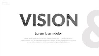 Creative Vision & Mission slide in PowerPoint. PPT tricks.