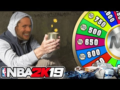 NBA 2K19 WHEEL OF WELFARE! Broke boy edition
