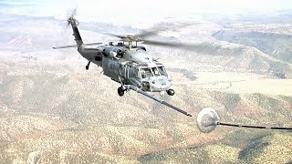 Helicopter Aerial Refueling from C-130 (HD)