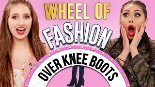HOW TO WEAR OVER THE KNEE BOOTS?! | Wheel of Fashion w/ Roxette Arisa & Courtney Randall