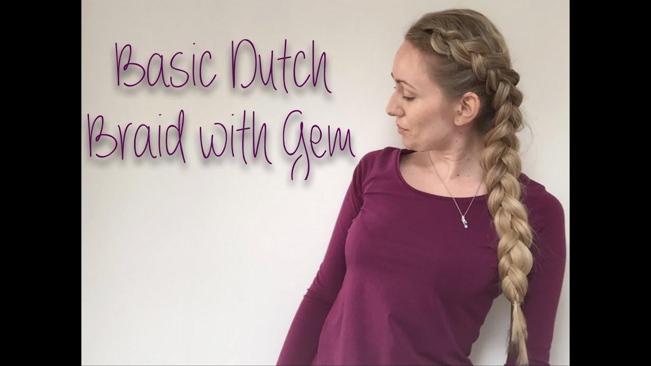 How To Basic Dutch Braid, Easy Hair Tutorial