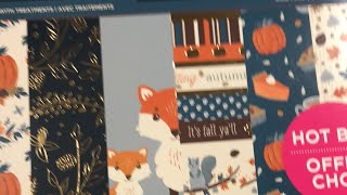 🍁🍂🍁New Fall Hot Buy Paper Pads at Michaels and Flip Through 🍁🍂🍁