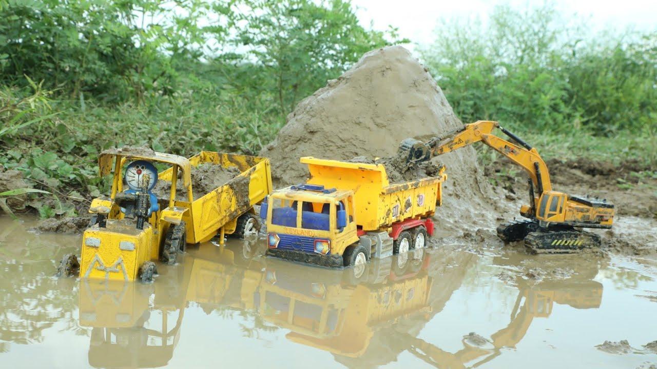JCB fully Loading Village Mud Hyva Truck | Dump Truck | MT Tractor | JCB Backhoe | CS Toy