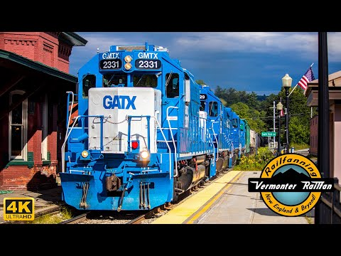 {4K} Vermont Rail System Detours Across the New England Central: A Video Compilation!
