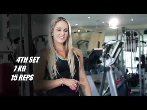 Training Shoulders with IFBB Figure Pro Raechelle Chase