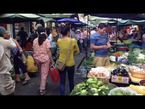 Asian Street Food, Natural Living In Cambodian Market, Country Food In My Village