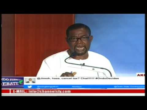 Ondo State GOVERNORSHIP DEBATE 2016 ELECTION