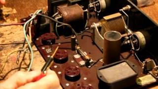 Restoring an old 20's portable battery radio.