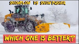 Snow Plow or a  Snow pusher - Whats best For a tractor, loader or skid steer