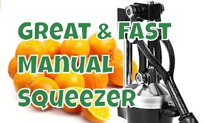 2 minute Review: Zulay Manual Commercial Orange / Lemon Squeezer B073CCDBRX restaurant grade citrus