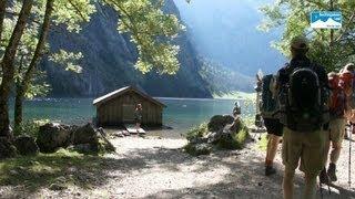 Wandern in Deutschland: Funtenseewanderung Teil 1 - Aufstieg fünf Seen, Königssee, Kärlingerhaus