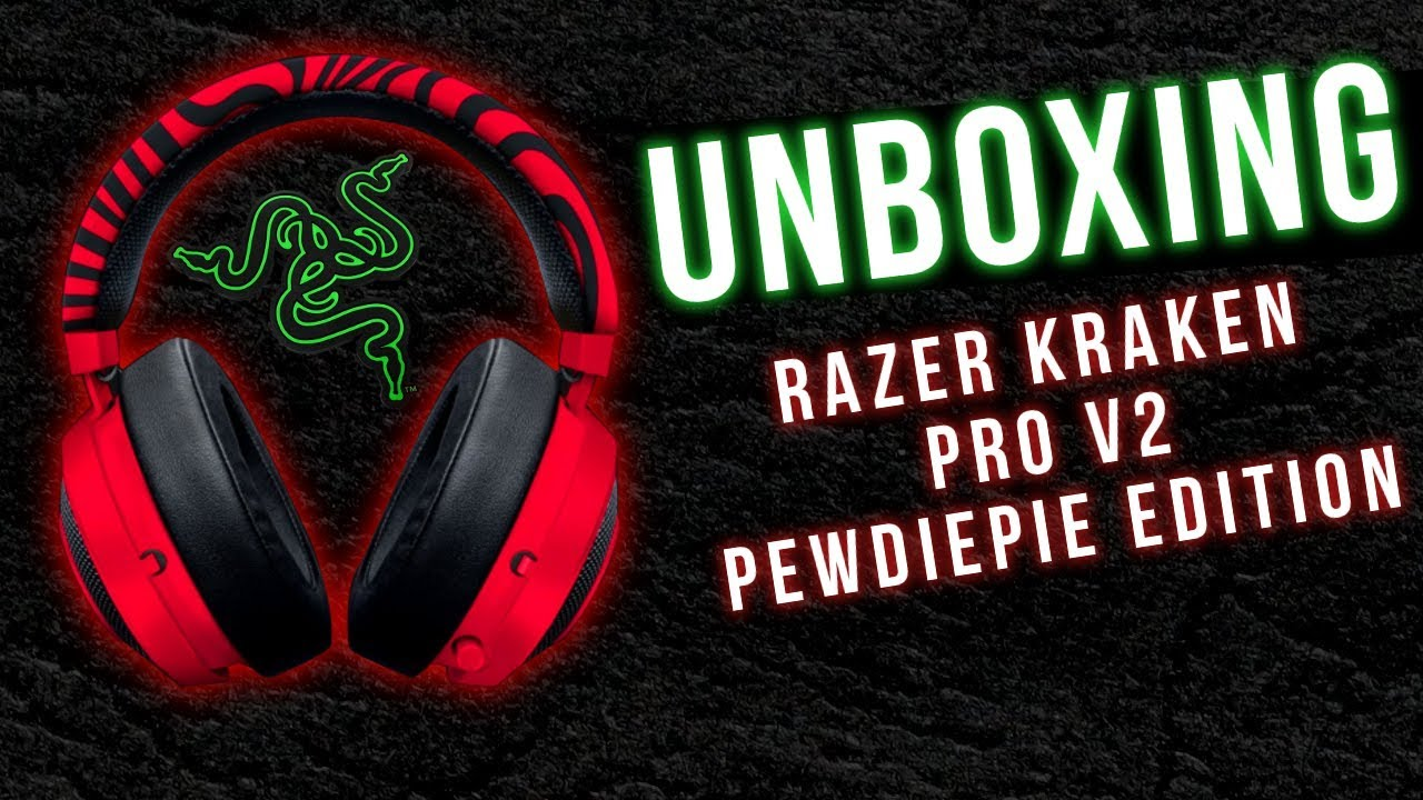 328093b31d4 UNBOXING - Headset Razer Kraken Pro V2 Pewdiepie Edition - YouTube
