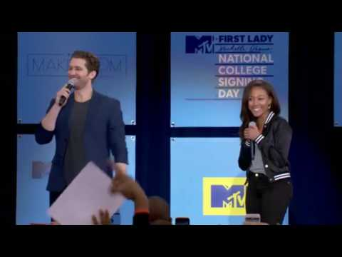 Nicole Beharie and Matthew Morrison  College Signing Day