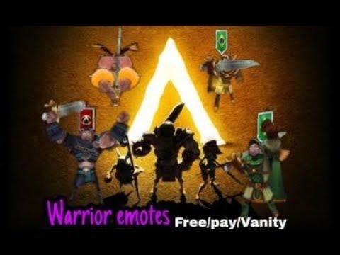 Warrior All Emotes // Free,Pay,Vanity // Arcane Legends //