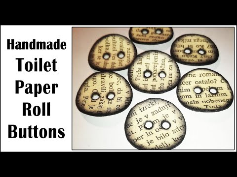 DIY Homemade Toilet Paper Roll Buttons Tutorial, Version 1