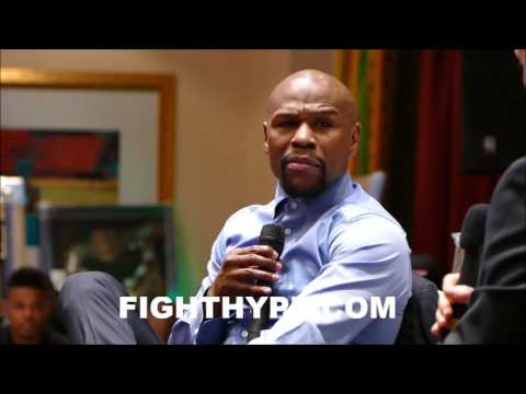 FLOYD MAYWEATHER EXPLAINS HOW TO BEAT A FAST FIGHTER; RECALLS ZAB JUDAH CLASH
