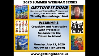 GUIDANCE FOR EDUCATORS: Creativity with the Return to School - INSPIRATIONAL INTERACTIVE (Webinar 3)