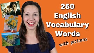 250 Important English Vocabulary Words with pictures
