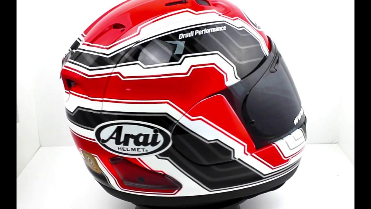 arai rx 7v mamola edge motorcycle helmet red youtube. Black Bedroom Furniture Sets. Home Design Ideas