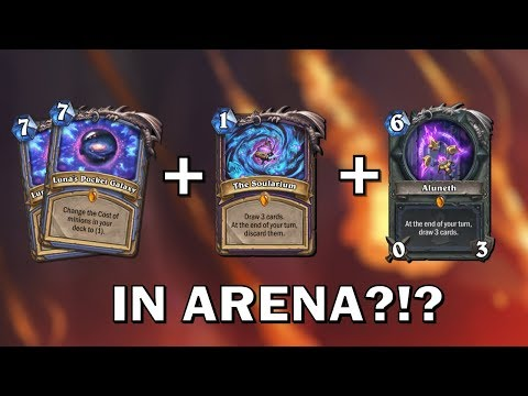 Hearthstone - No one Expects the 4 Legendaries Combo... IN ARENA
