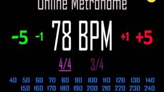 Metronomo Online - Online Metronome - 78 BPM 4/4