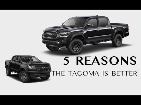 5 Reasons the Tacoma is better than the Colorado